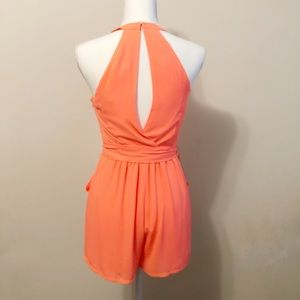 Express Dresses - Express neon orange romper